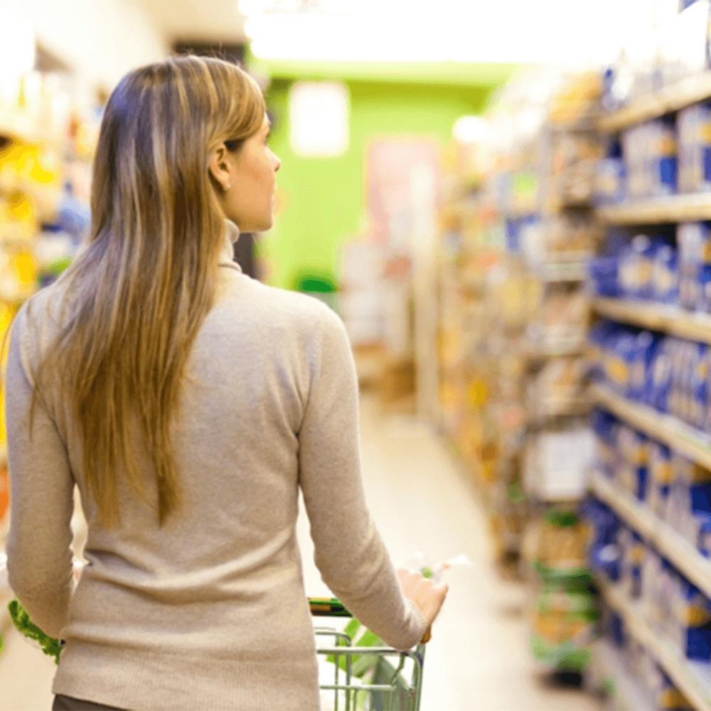 Hier möchte man im Supermarkt platziert sein (©https://freshideen.com/dekoration/billig-einkaufen.html).